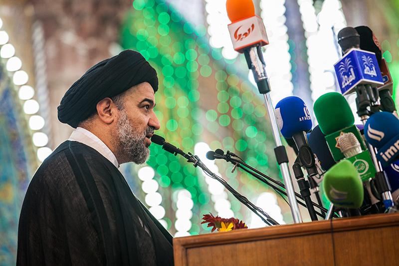 السيد الصافي: إن الحضور المنوع من المذاهب والديانات الذي يحلو لي أن اسميه (الحضور الحسيني)  361239_IMG_5314