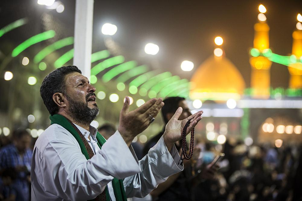 Photos: First Night of Qadr observed at Imam Hussain (a.s.) holy shrine