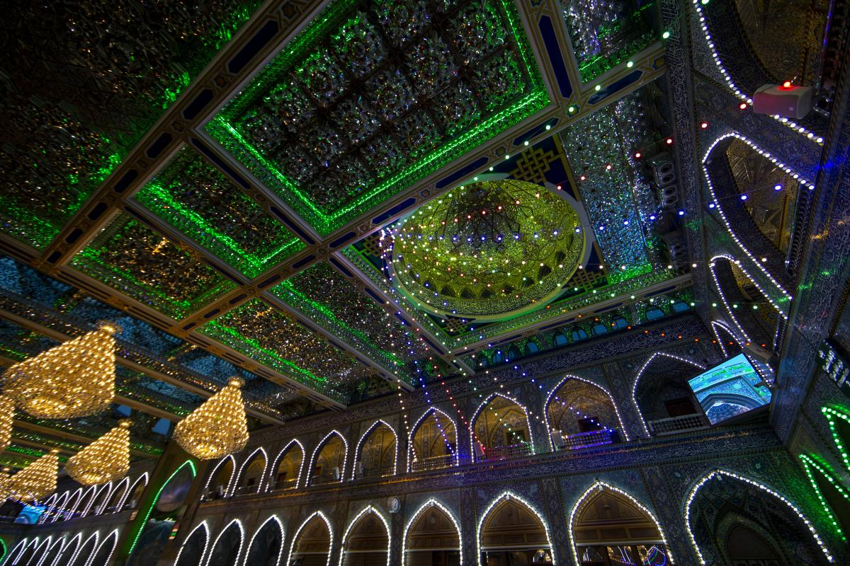 The Al-Abbas's (p) Holy Shrine is decorated to celebrate the holy month of Sha'ban.