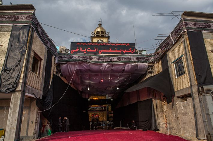 Front gate of the El-Abbas Holy Shrine
