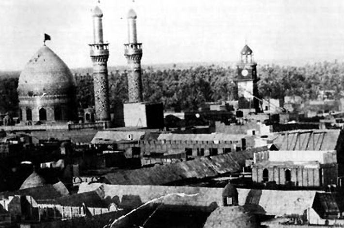 An old photo of the El-Abbas Holy Shrine