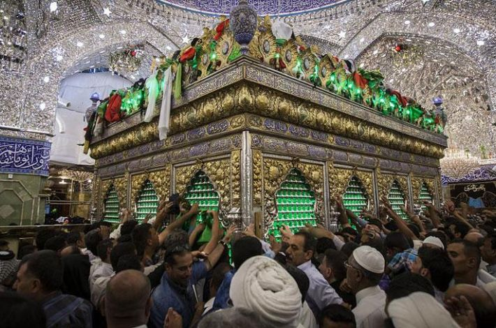 The holy sanctuary of Aba Al-Fadl Al-Abbas (peace be upon him)