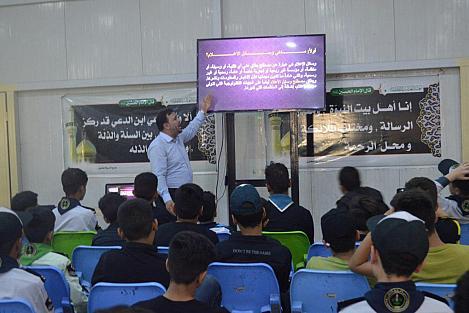 شعبة العلاقات الجامعية تقيم مخيم أبطال الكفيل السنوي بنسخته الثانية لـ(70) طالب من المدارس العراقية